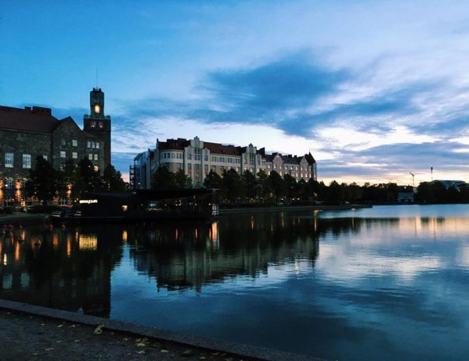 Helsinki in evening