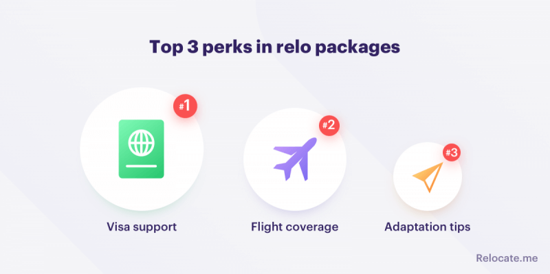 Top 3 perks in relo packages